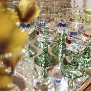 copos pintados à mão