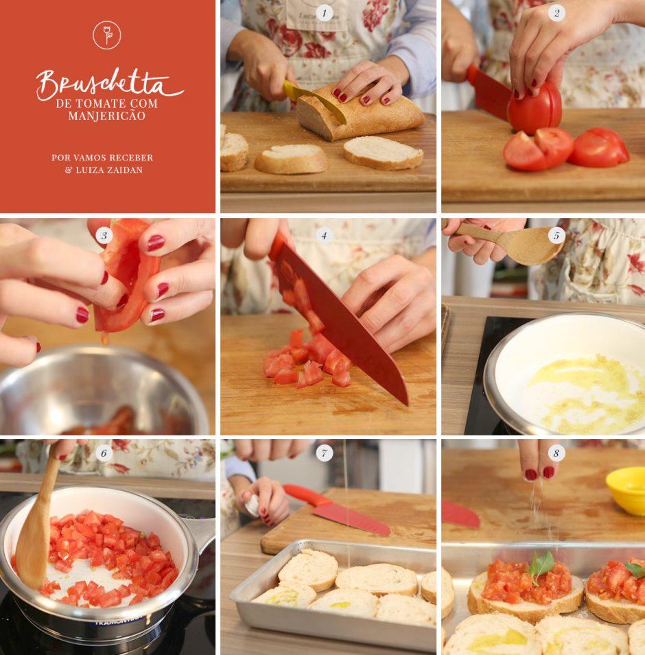 bruschetta tomate-passo a passo