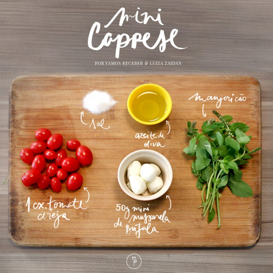 mini caprese ingredientes