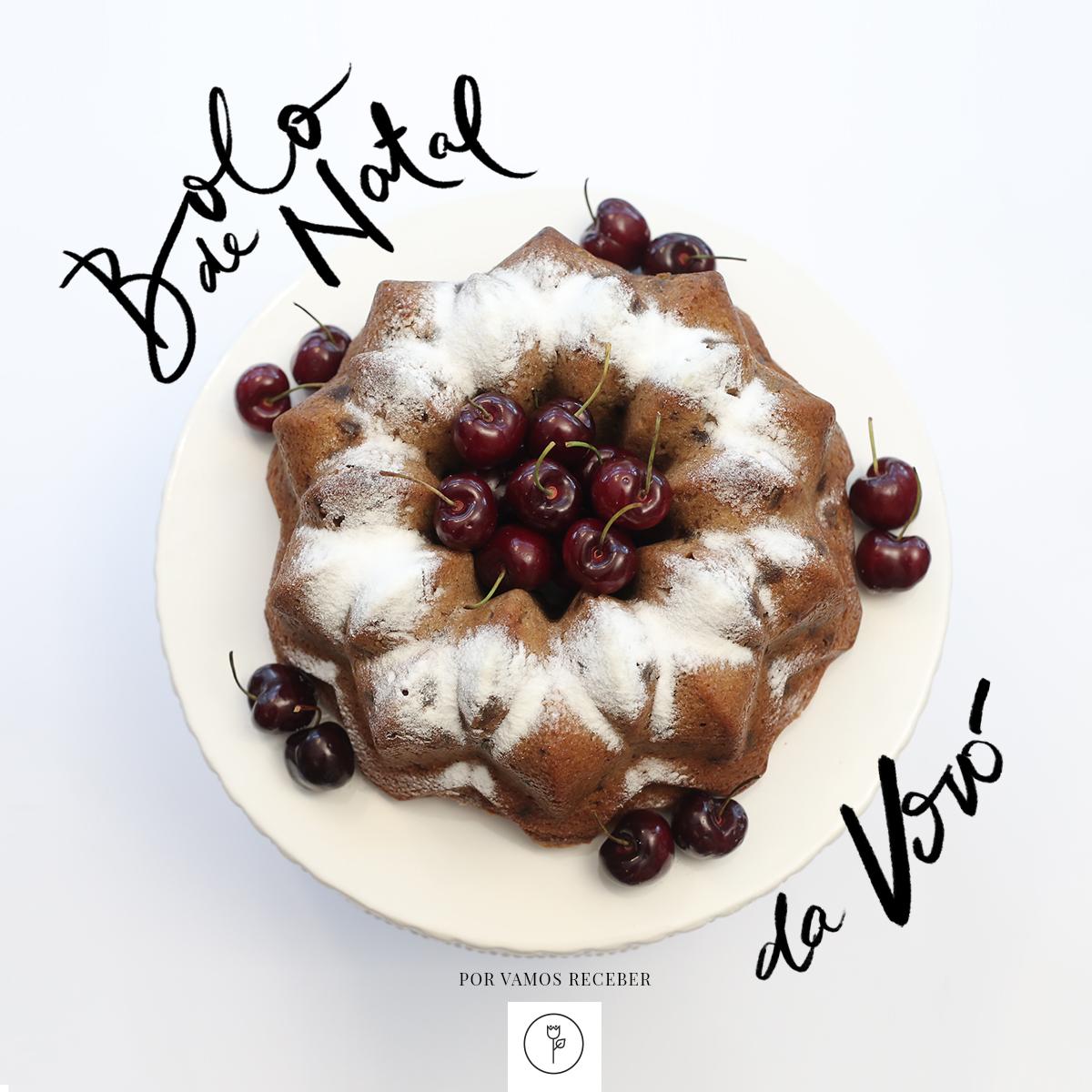 banner bolo de natal de vovo
