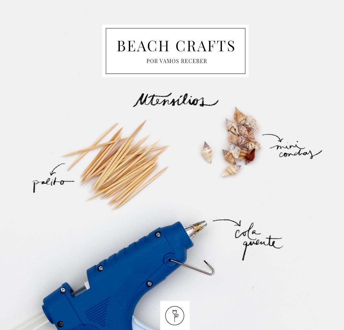 beach crafts utensilios