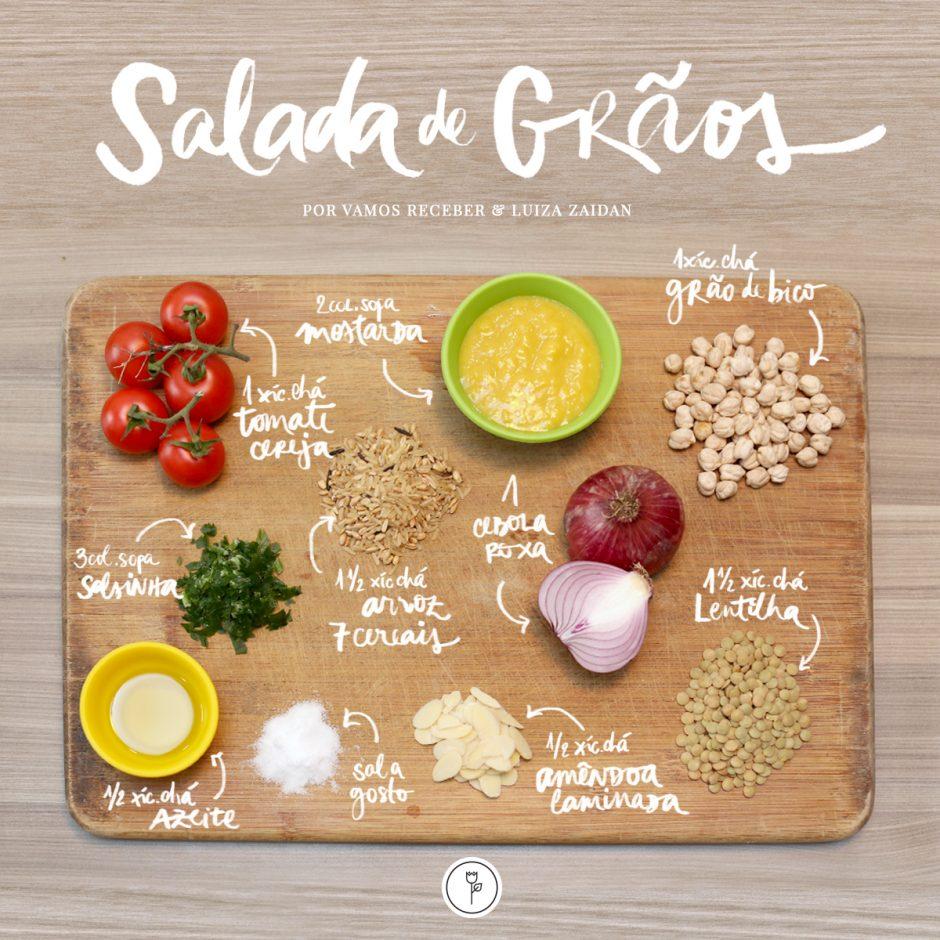 Ingredientes Salada de Graos