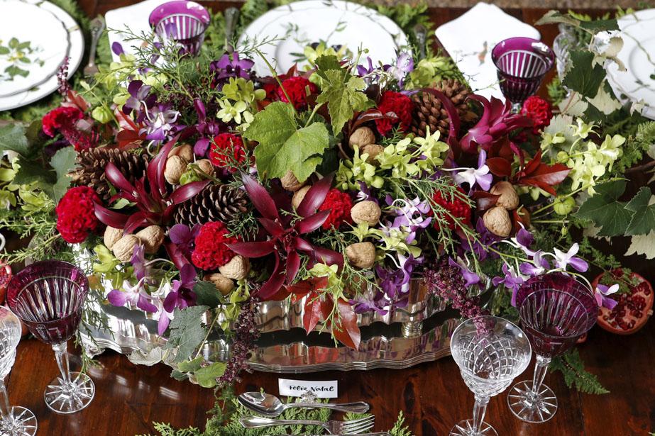 Arranjo de Flores para o Natal