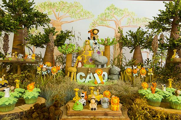 festa de crianca com tema Safari