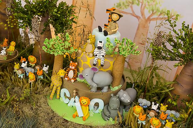 bolo de aniversario tema Safari