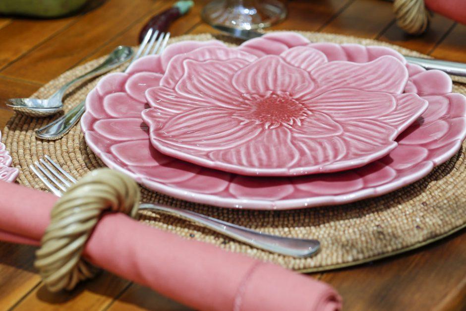 louça flor de hibisco
