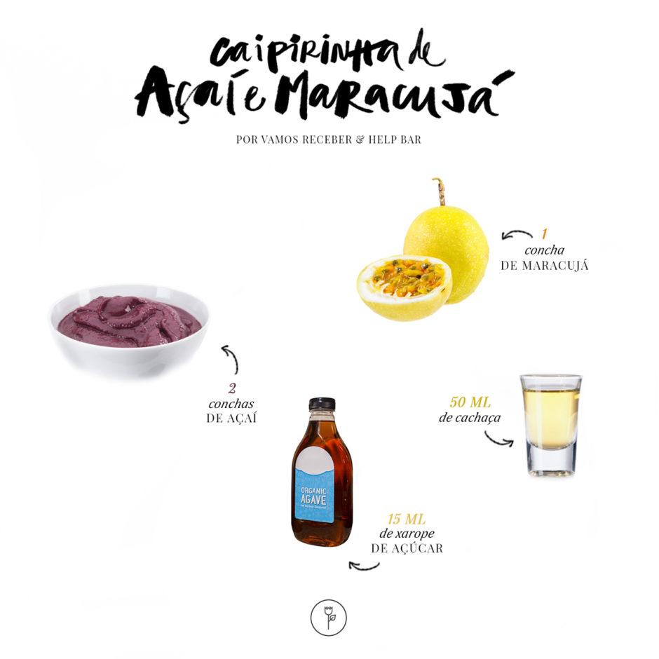 receita de caipirinha de açaí com maracujá help bar