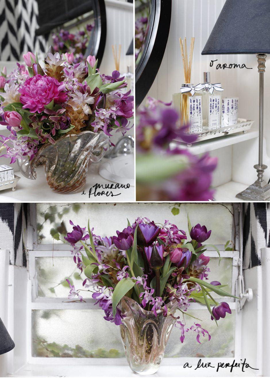 Lavabo - Murano e Flores, O Aroma, A Luz Perfeita