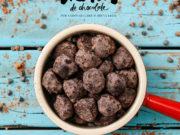 Receita de trufas de chocolate criada por Bruna Leite