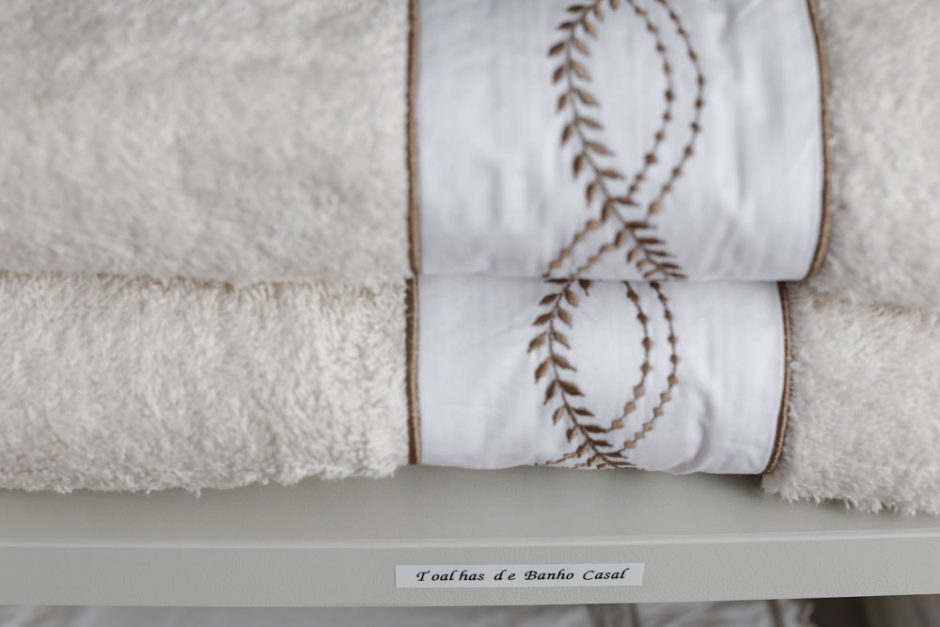 passo a passo como organizar toalhas