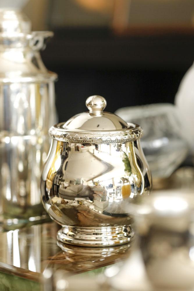 peças em prata para mesa de café
