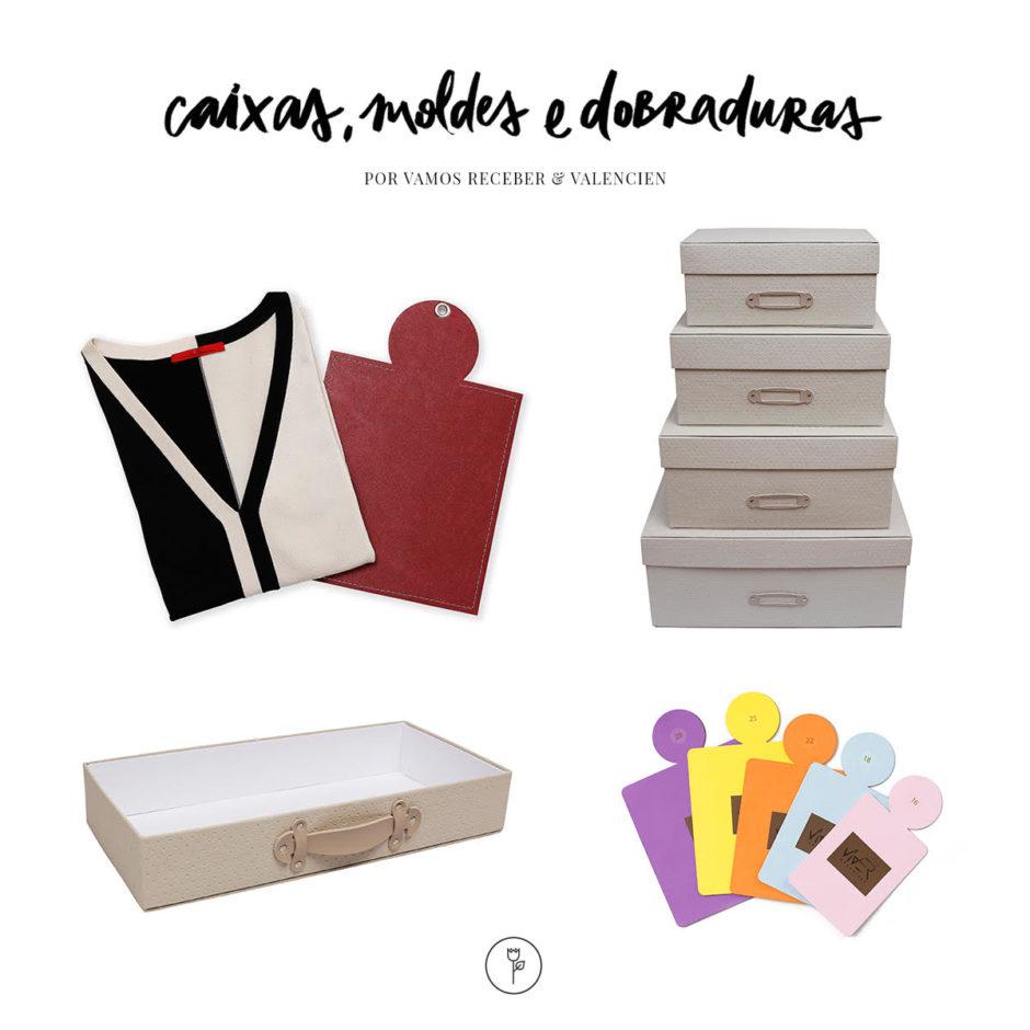 caixas moldes e dobraduras da Valencien