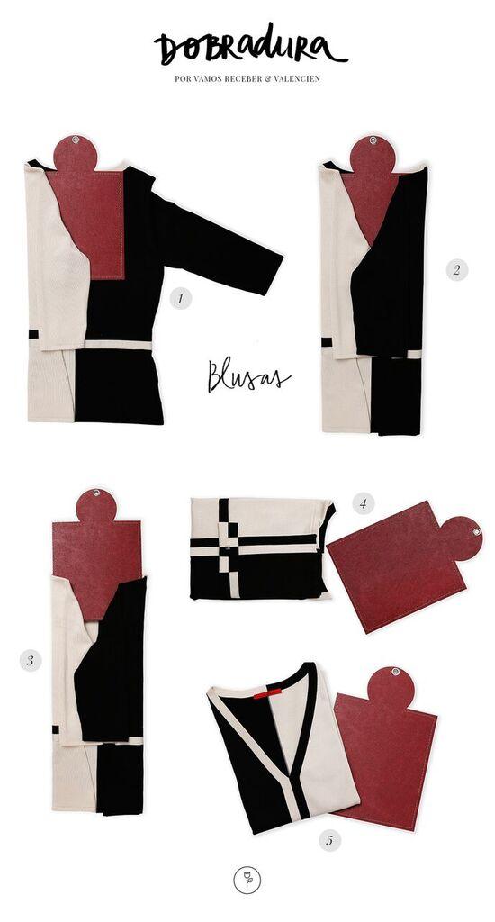 dobradura blusas da Valencien