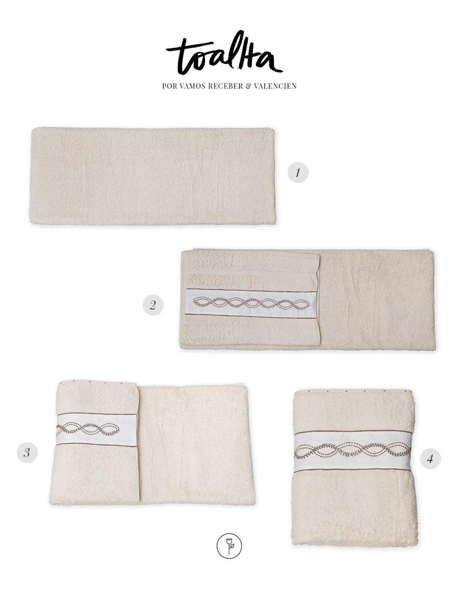 dobradura toalha da Valencien