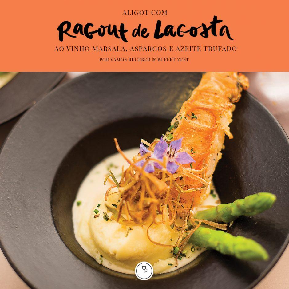 receita aligot com ragout de lagosta