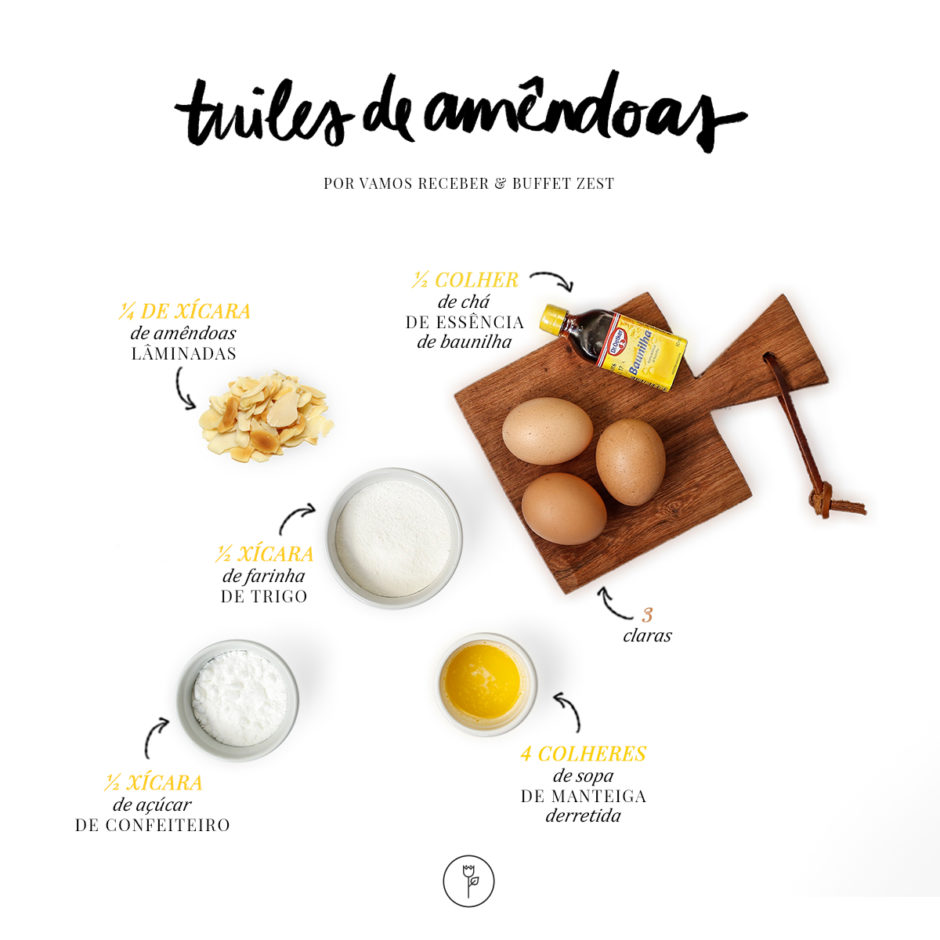 receita de tuiles de amendoas