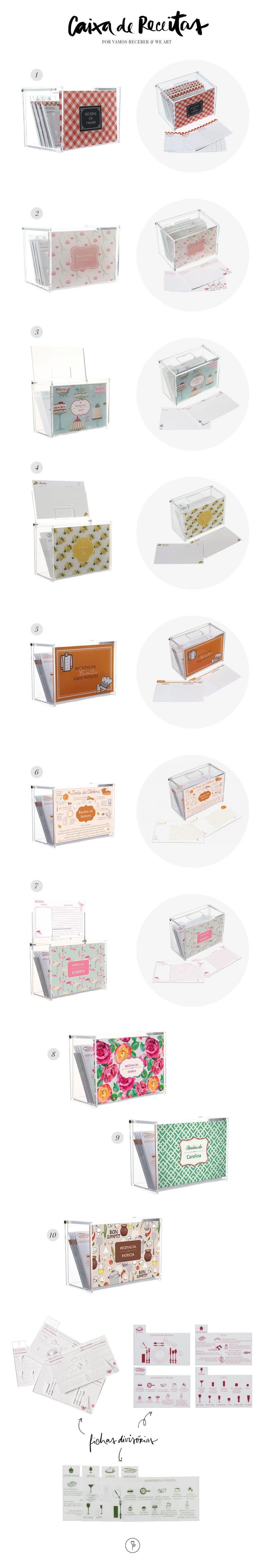 caixas personalizadas de receita da we art