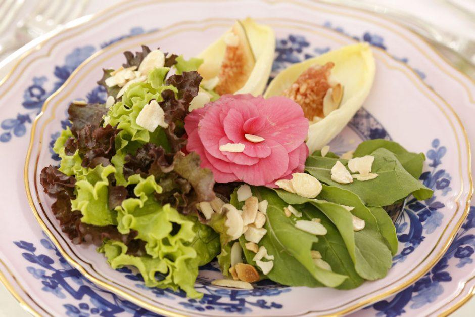 salada de bouquet de verdes nobres com balsamico