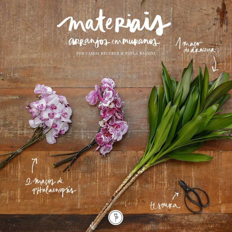 materiais para arranjos de flores
