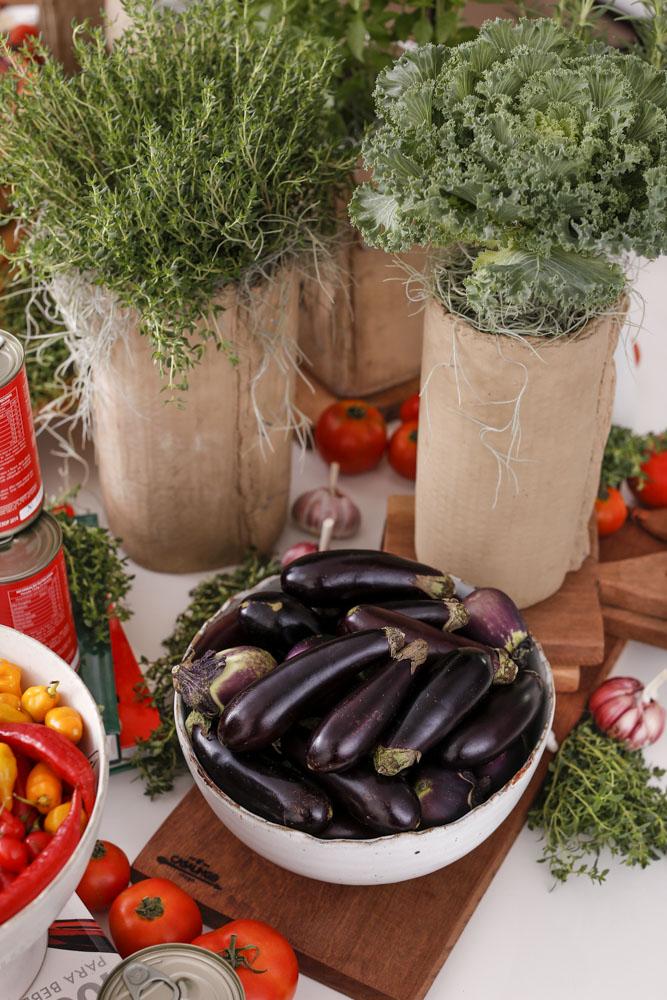 decor com vegetais e legumes
