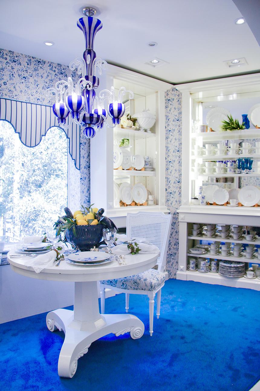 decorando azul e branco