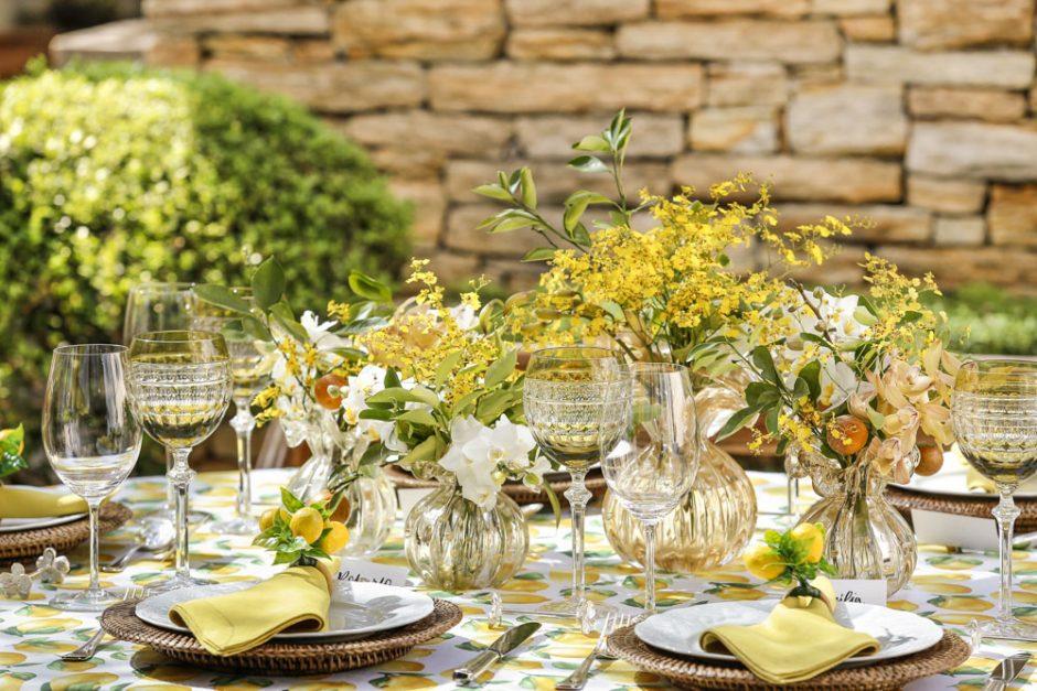 decoracao de mesa delicada
