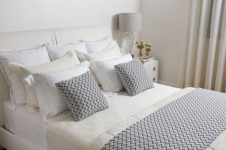 azul e branco para quarto