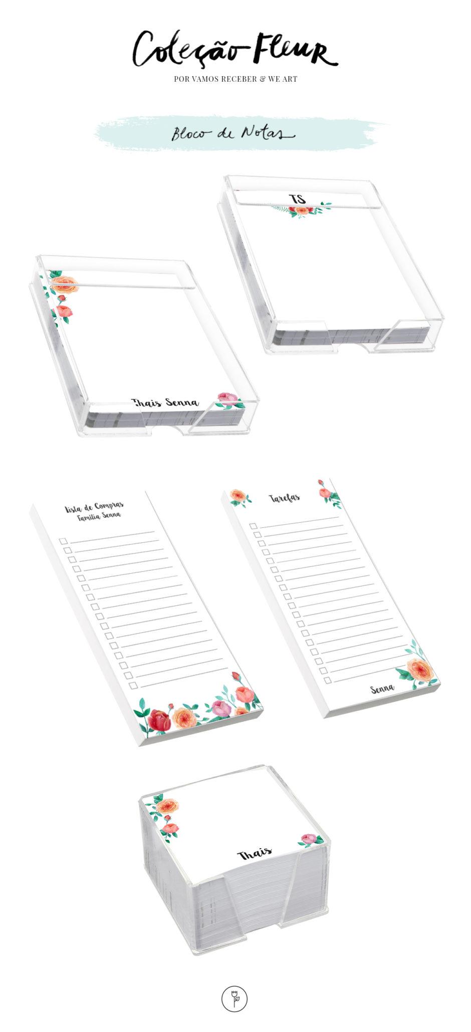 bloco de notas papelaria personalizada vamos receber e we art