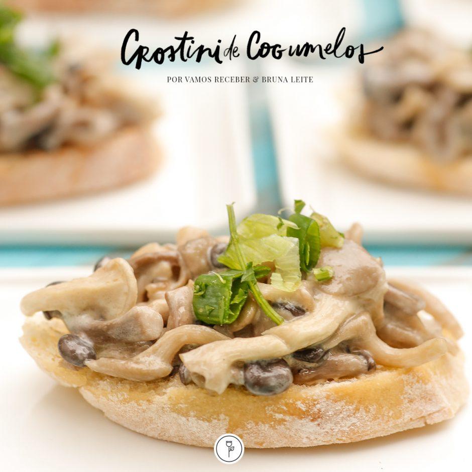 Crostini de Cogumelos por Vamos Receber e Bruna Leite