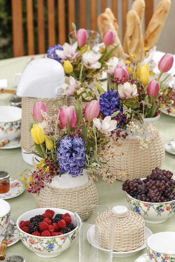 arranjos de flores coloridos