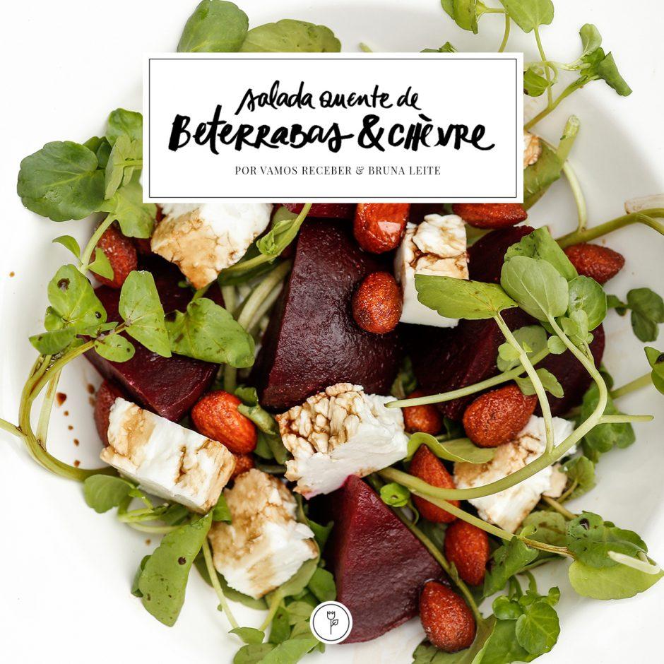 receita Salada Quente de Beterrabas & Chèvre