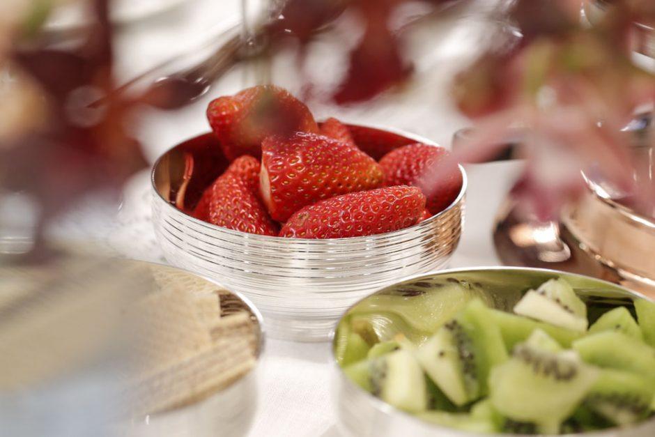 salvas em prata para frutas