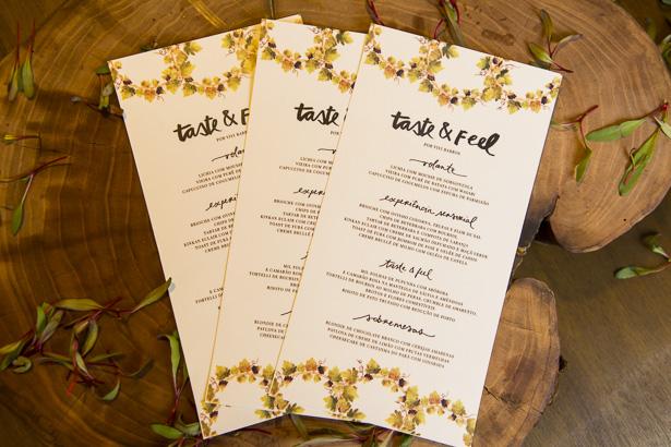 menu impresso