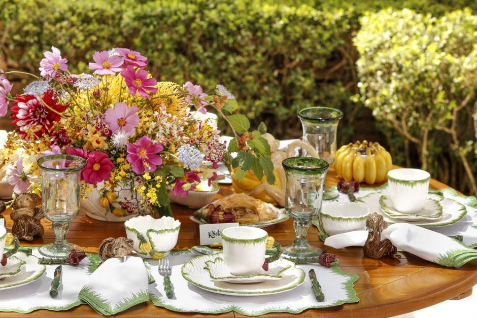 cafe da manha no jardim