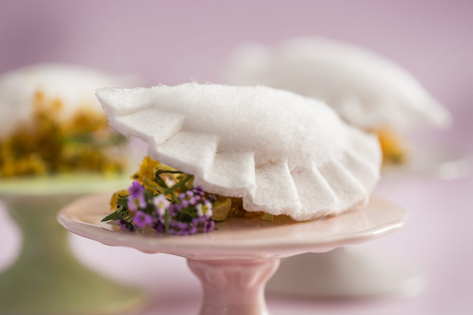 buffet zest pastel de algodao doce