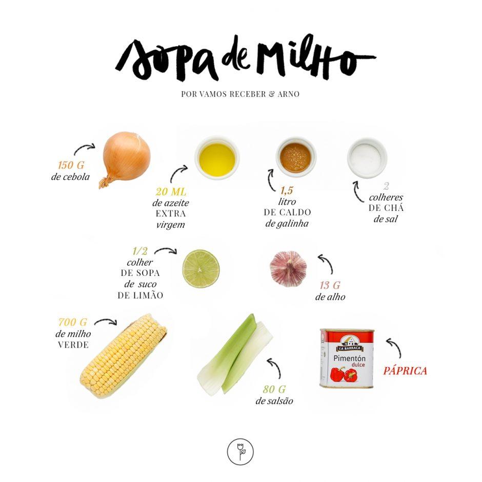 receita de sopa de milho