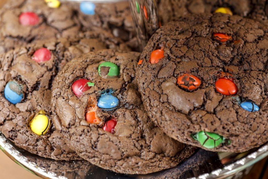 cookies de m&m