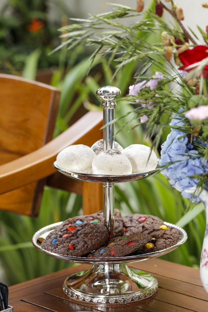 cookies e doces para chá da tarde