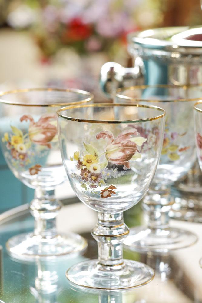 taças de cristal pintadas