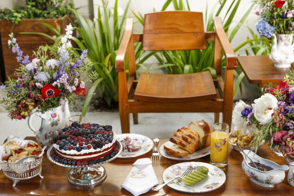 chá da tarde na varanda
