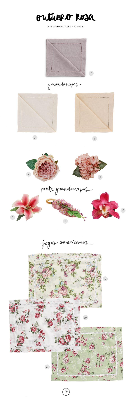 acessorios de mesa jogos americanos florais