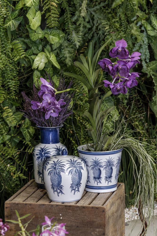 flores e plantas em arranjos