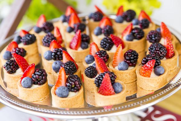 mini tortas de frutas