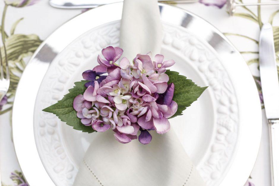 porta-guardanapo de flor couvert