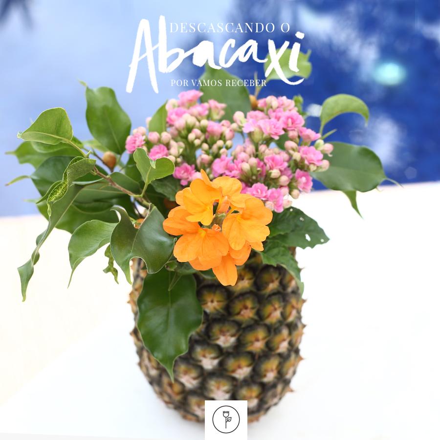 cachepot de abacaxi
