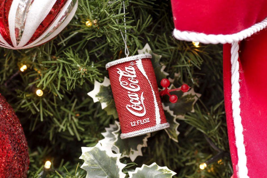 efeito de arvore de natal de coca cola