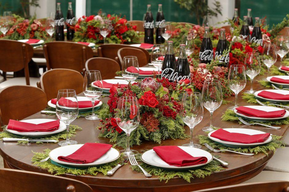 mesa de almoco no natal