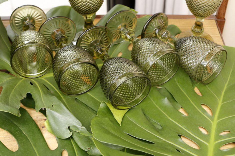 copos bico de jaca verde