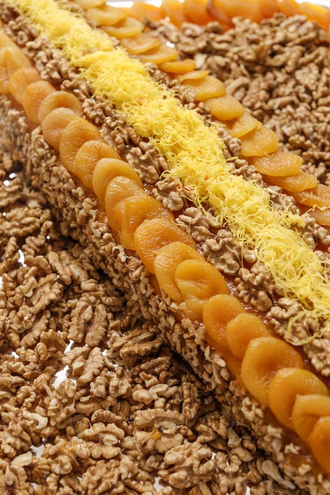 torta de nozes com damasco