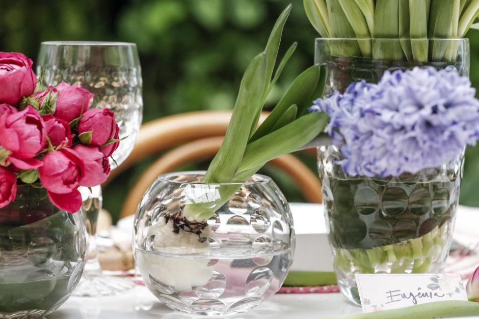 vasos de cristal para centro da mesa